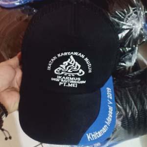 tukang bordir topi Mojokerto